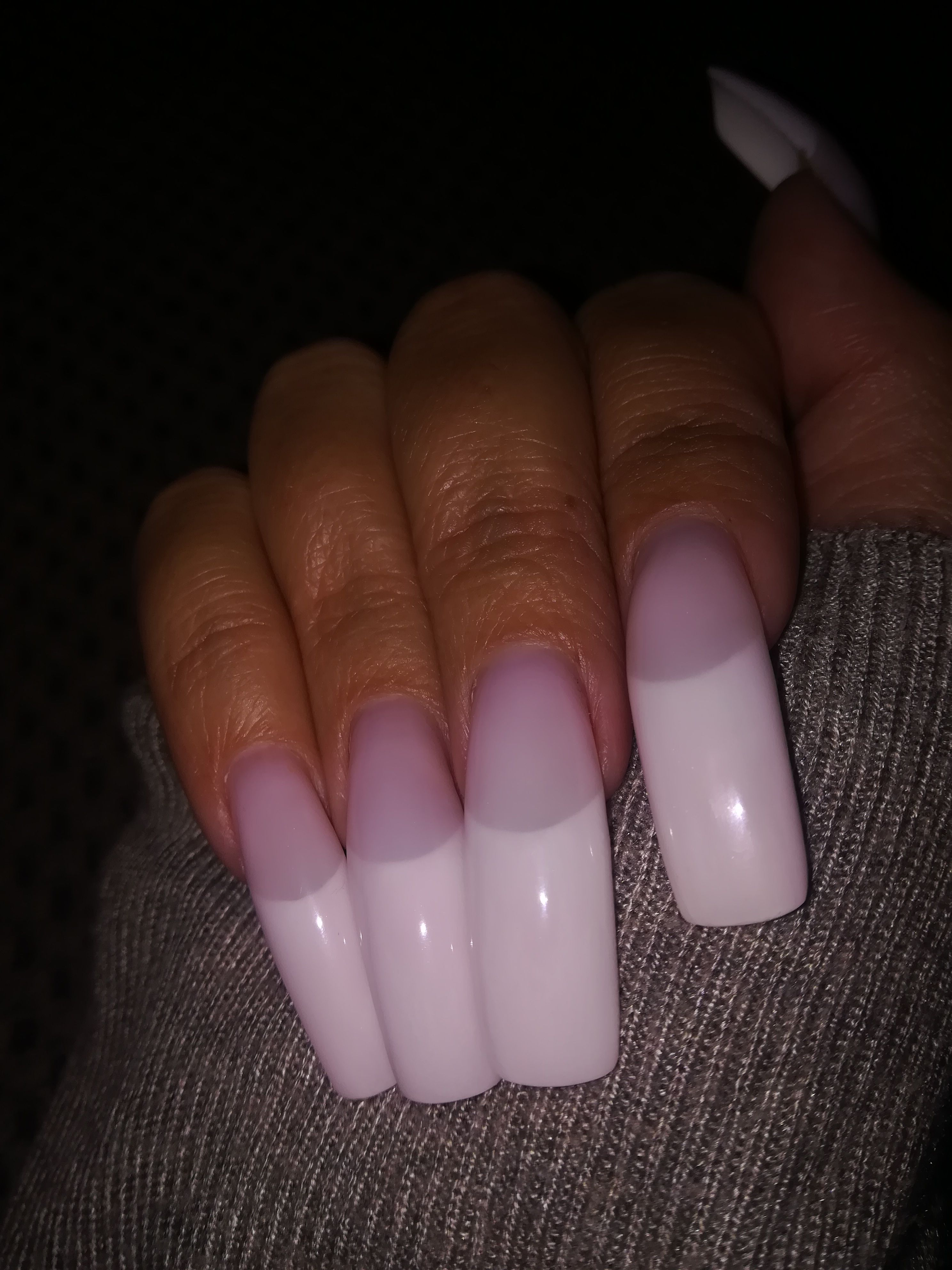 Long french nails | Long, long nails.... | Pinterest | Long french ...