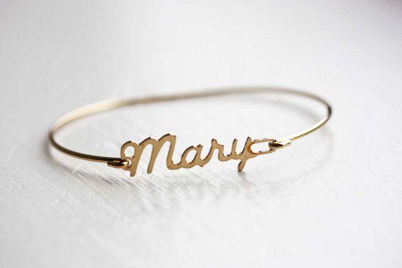 Vintage Name Bracelet Mary by diamentdesigns on Etsy