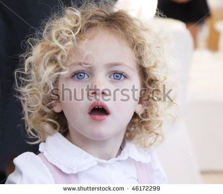 Portrait Of A Pretty Toddler With Blue Eyes And Blonde Curly Hair Curly Hair Styles Blonde Hair Blue Eyes Blonde Curly Hair