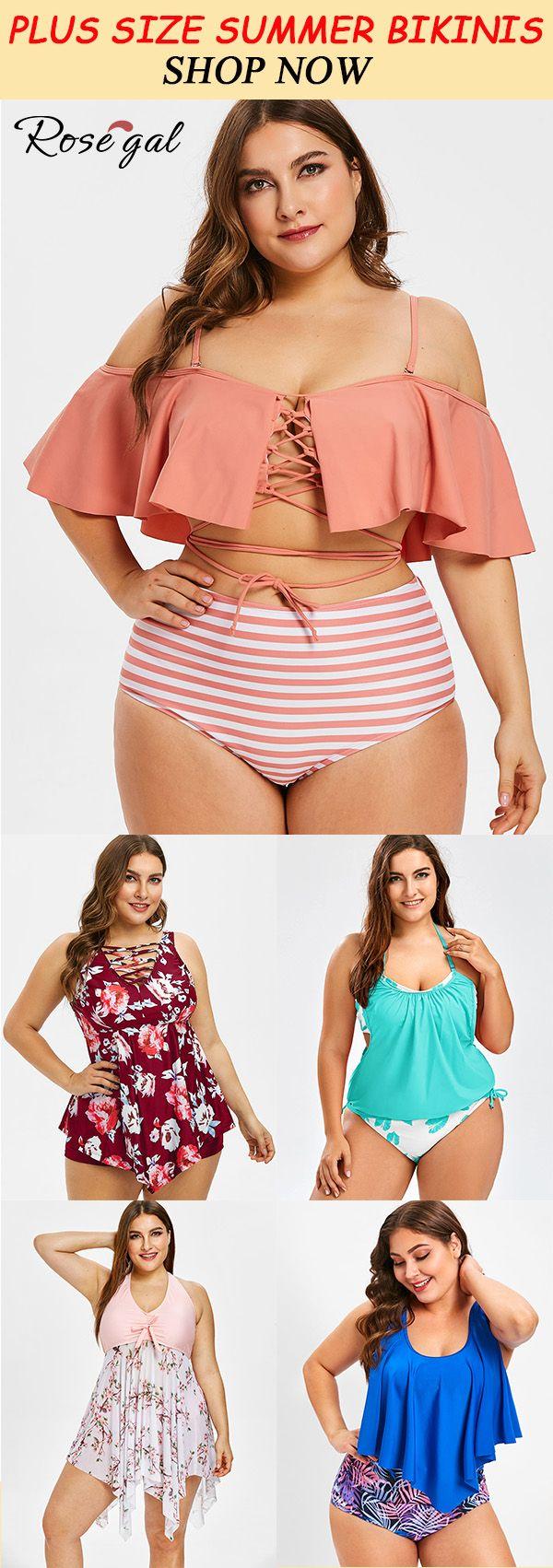 Plus Size Swimsuit tankini for summer vacation #Rosegal #bikini – Swimsuit