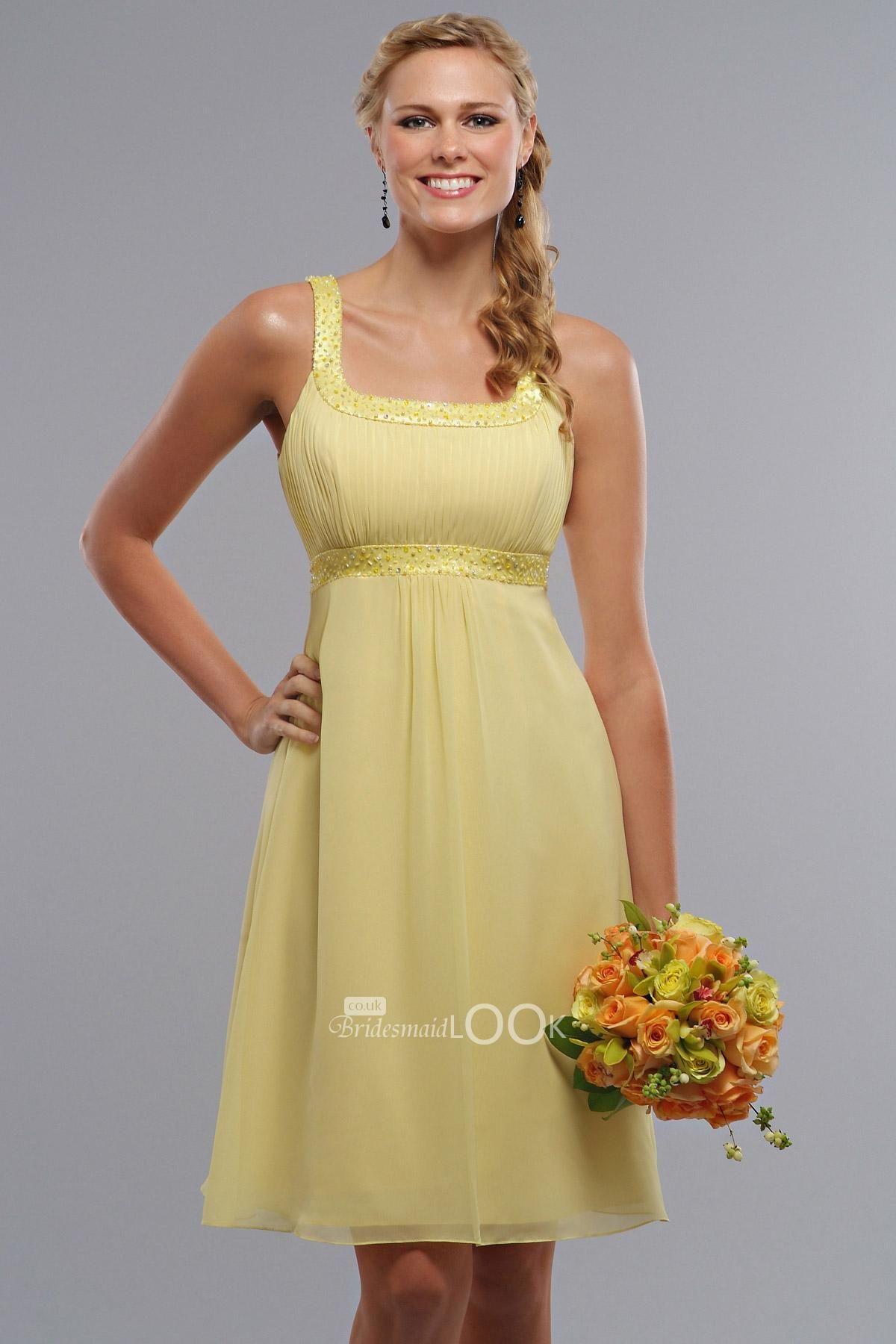 Chiffon ankle length yellow chiffon bridesmaid dress chiffon ankle length yellow chiffon bridesmaid dress bridesmaidlook ombrellifo Gallery