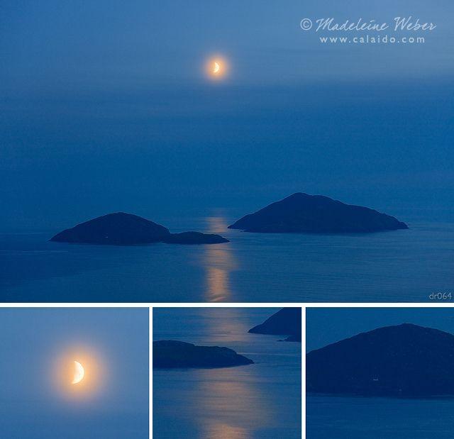 Scarriff Islands And The Moon Landscape Photography County Kerry Ireland Derrynane Bay Photo Irish Landscape Landscape