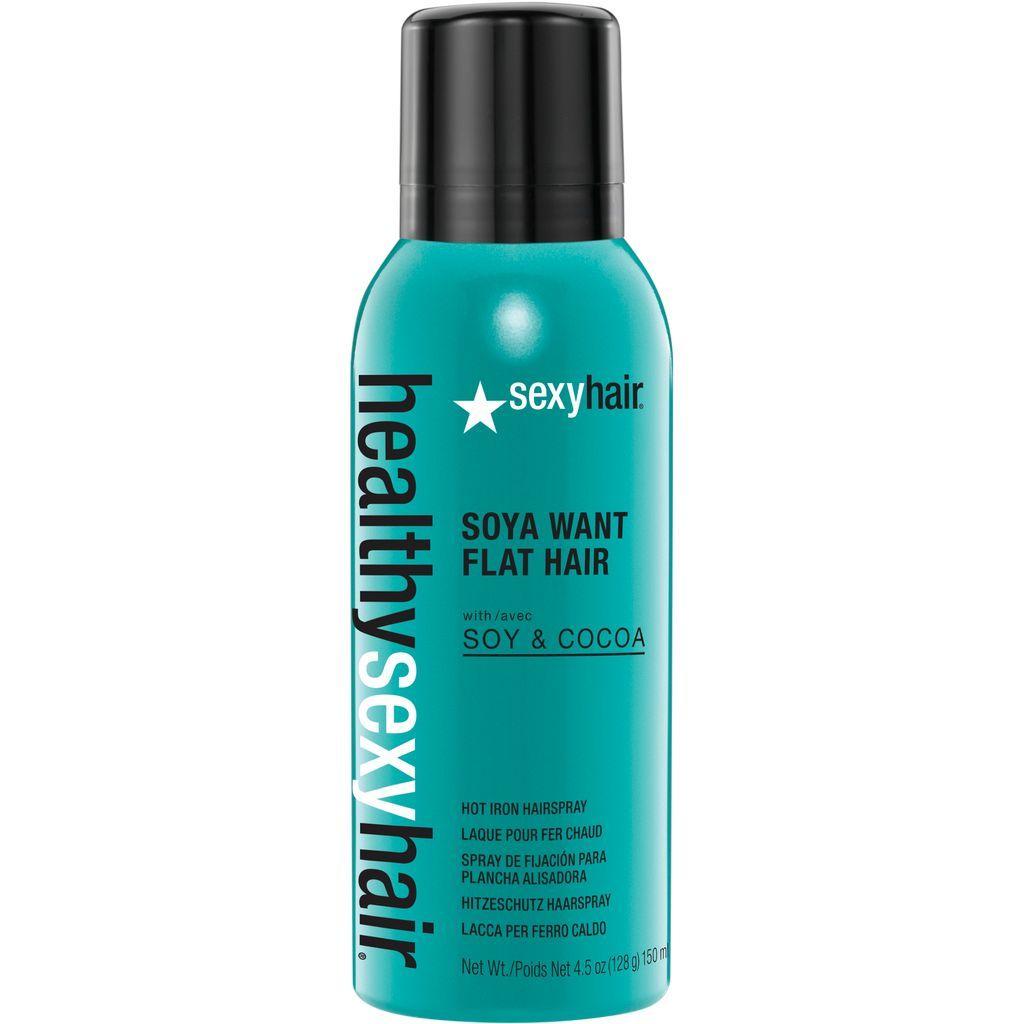 Healthy Sexy Hair Soya Want Flat Hair Flat Iron Hairspray