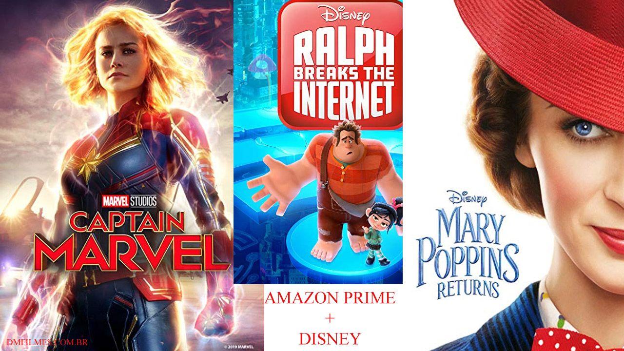 Disney e Amazon Prime vídeo fazem parceria Filmes Marvel