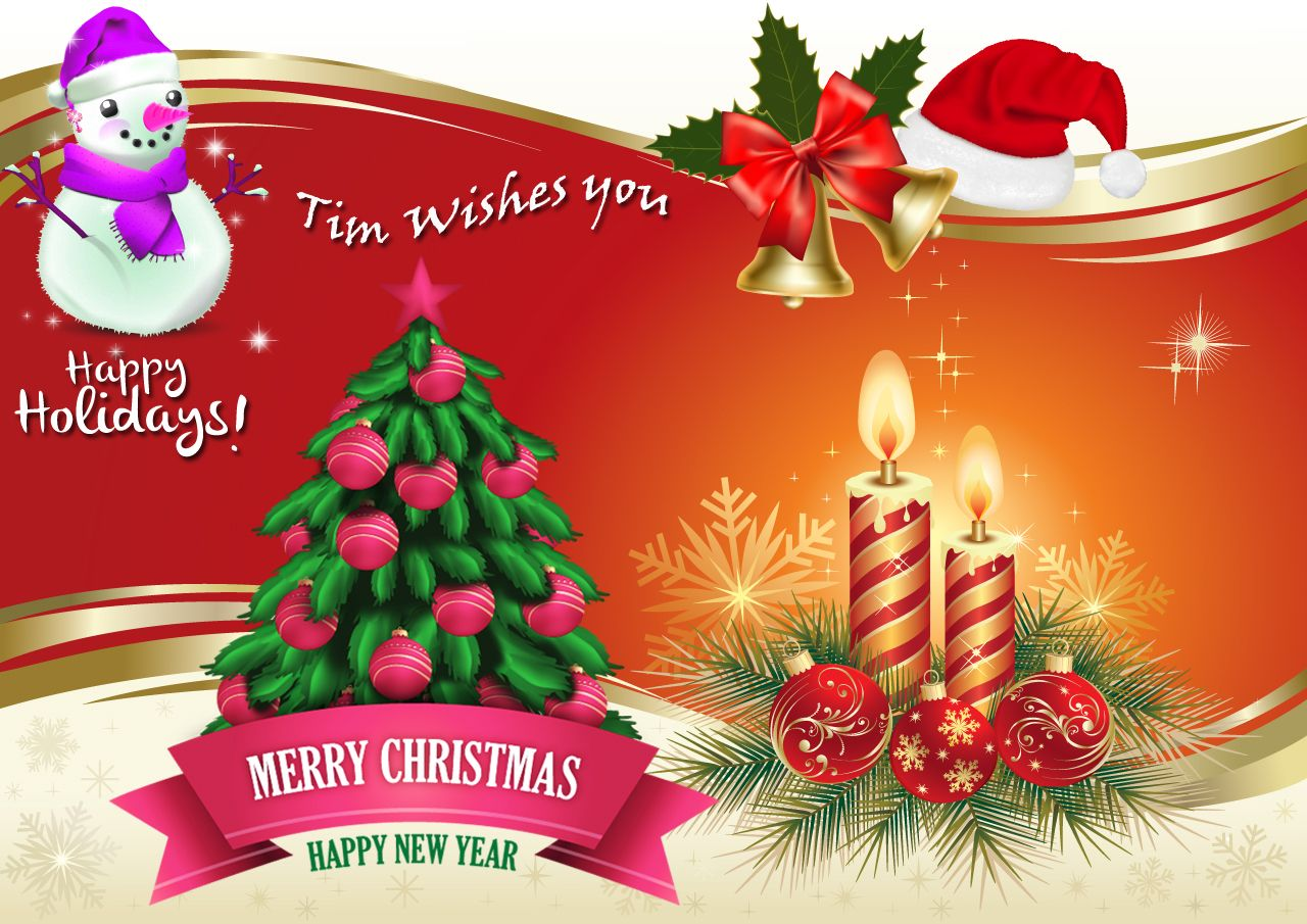 Wishing You A Merry Christmas And Great New Year Ahead Happy Holidays