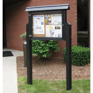 Medium Horizontal Message Centers Stainless steel doors
