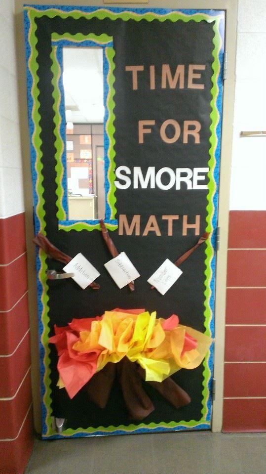 Camp Fire Math Door School Decorating Ideas Math Classroom