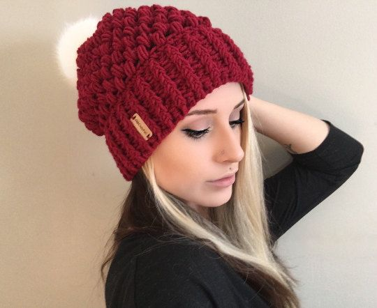 e406070ea0c PATTERN Fitted Puff Stitch Beanie PDF FILE by ShopABCrochet