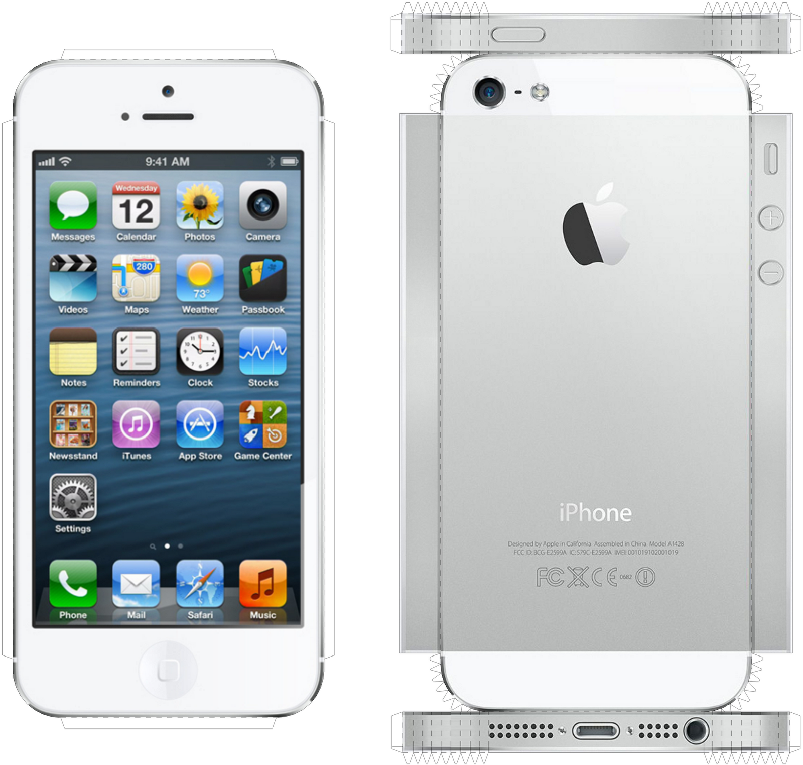 Iphone 5 back png apple iphone 5 16gb - Iphone5white Png 1600 1523 New Boardpin Piniphone 5spapercraft
