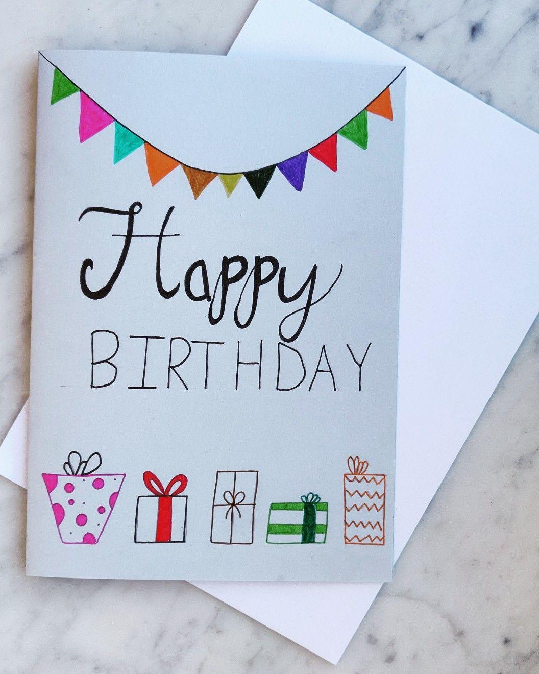 Colorful Birthday Card Birthday Cards Birthday Card Drawing Handmade Birthday Cards