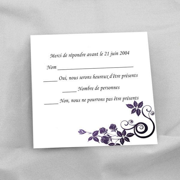 faire part mariage violet original ruban papillons romantique jm140 wedding pinterest. Black Bedroom Furniture Sets. Home Design Ideas