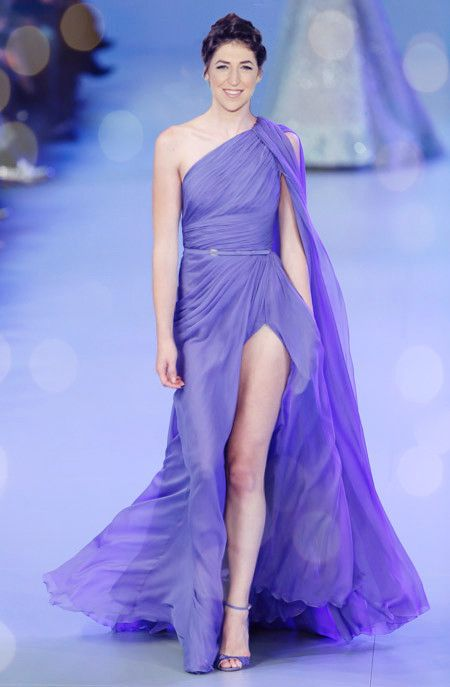 Mayim Bialik for Elie Saab fashion show