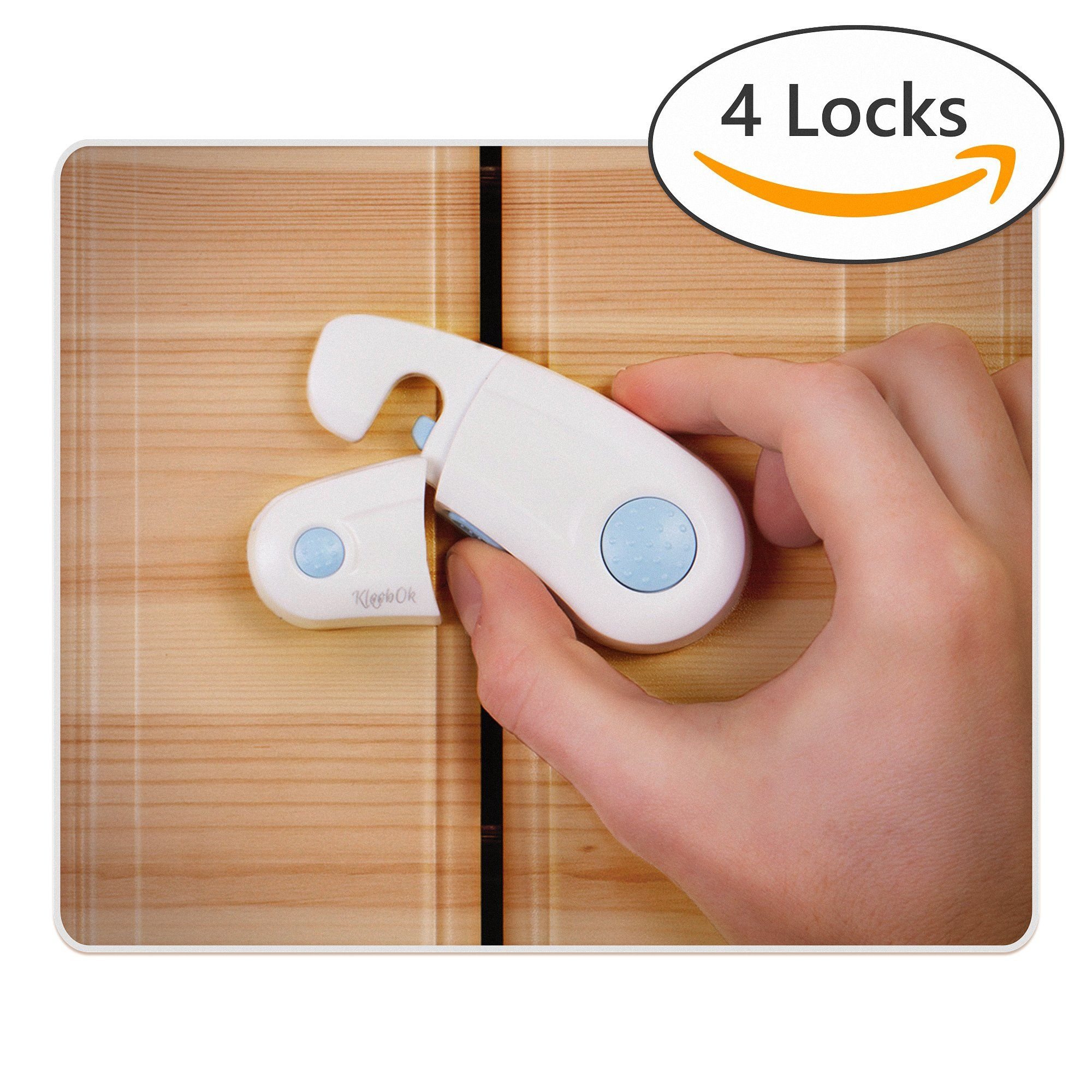 Cabinet Locks Pack of 4 Child Safety Locks for Cabinets Child