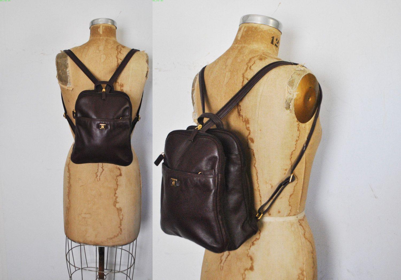 offizielle Fotos erstklassig zum halben Preis OXBLOOD Leather Backpack Bookbag / Etienne Aigner | Vintage ...