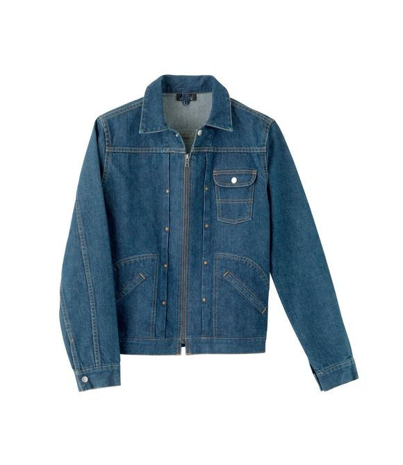 d58012f1ce1 Denim zip-up jacket - INDIGO - A.P.C. MAN