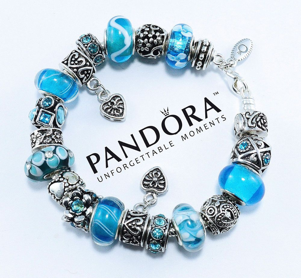 Authentic Pandora 925 Sterling Silver Charm Bracelet