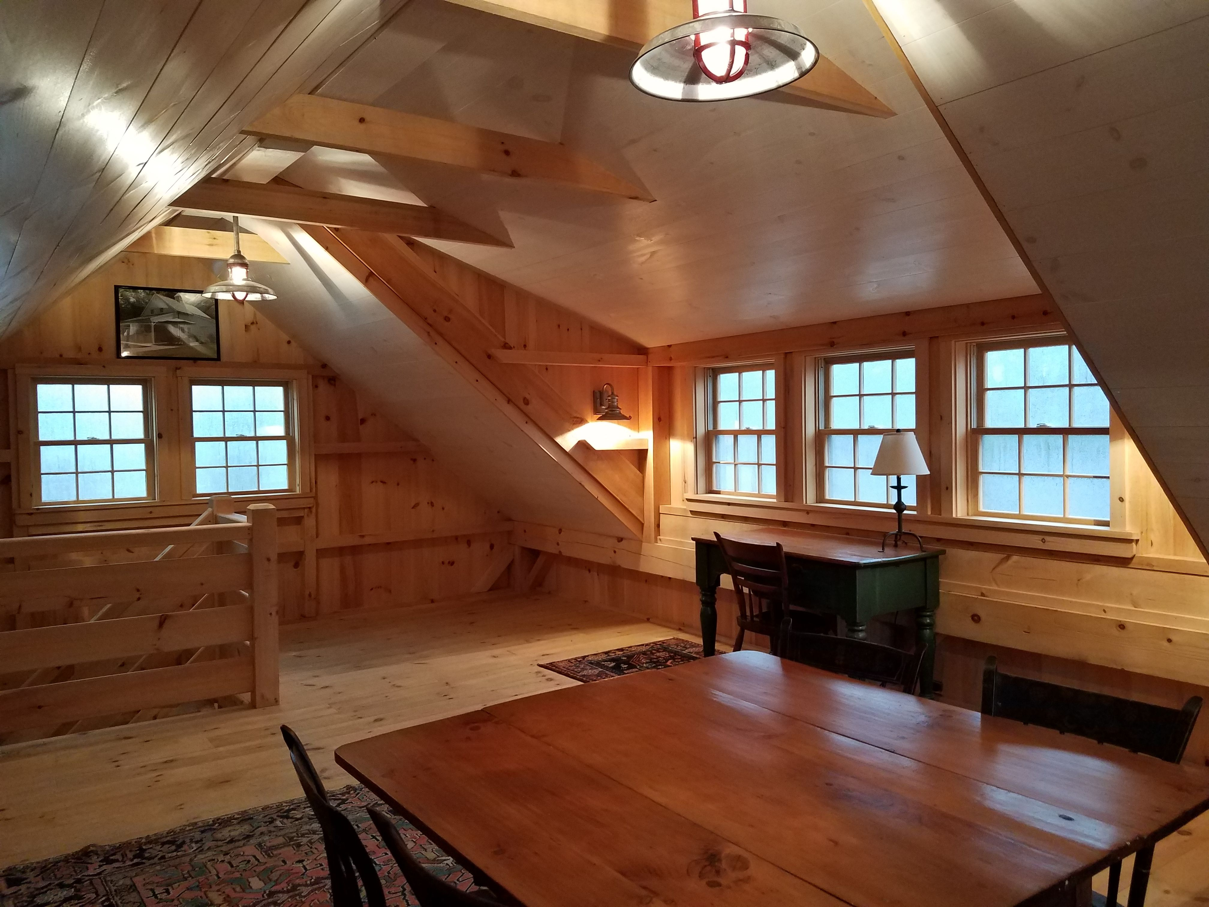 With The Shed Dormer Option Even Our Smallest 1 1 2 Story Barn Has Loft Space With Endless Possibilities Www Countrycar Shed Dormer Room Above Garage Dormers
