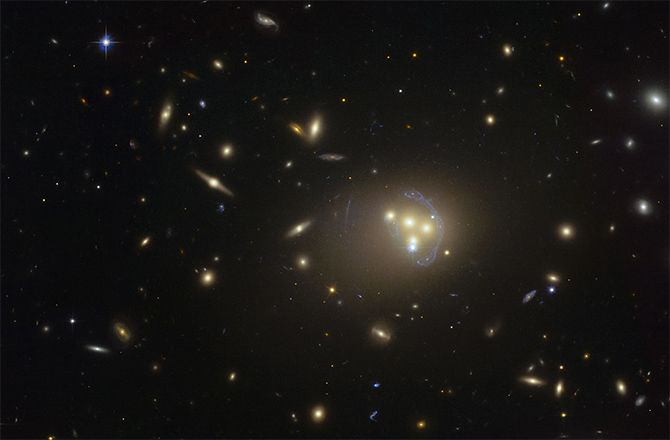 Interacting dark matter potentially observed for first time ever in colliding galaxies