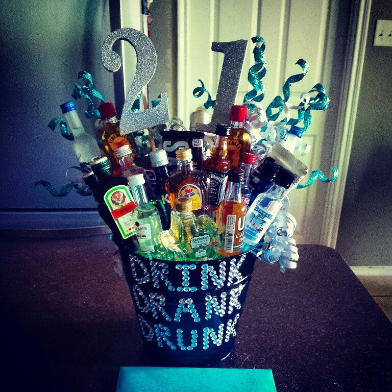 21st birthday alcohol bouquet for him 21st birthday