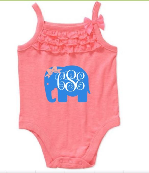 Elephant custom take home outfit personalized newborn baby girl elephant custom take home outfit personalized newborn baby girl bodysuit custom baby name onesie negle
