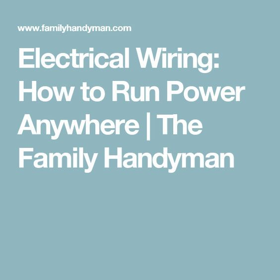 Fix Underground Wiring The Family Handyman - Wiring Diagrams •