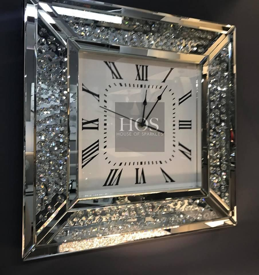 Luxury Floating Crystal Wall ClockFor prices and product