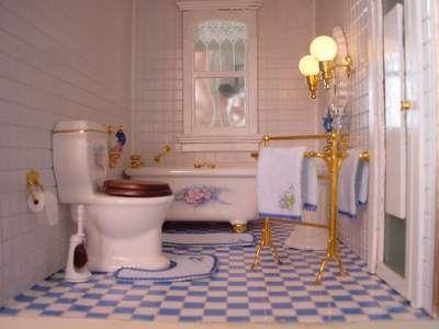Badkamer Voor Poppenhuis : Badkamer poppenhuizen mini