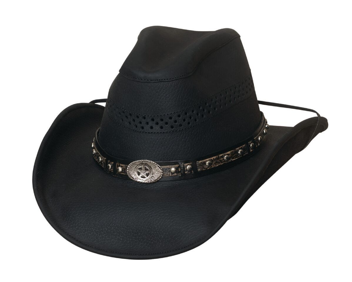 Get On Leather Outback Hat