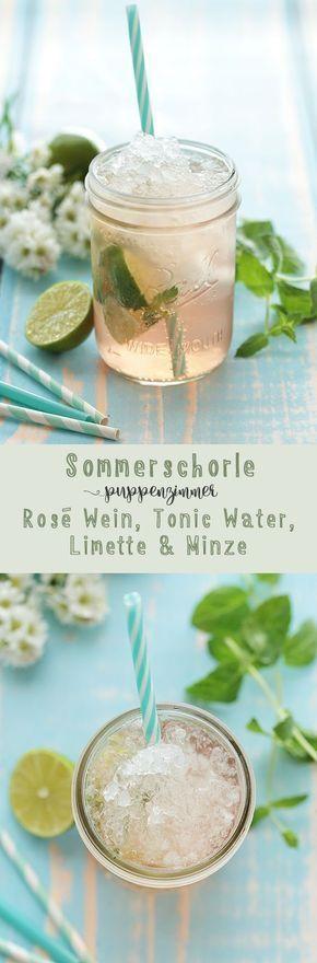 creditcard #creditcard Sommerschorle mit Ros, Tonic Water, Limette und Minz