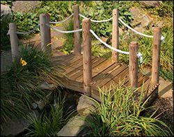 Treated Pine Rope Rail Bridge w/White Cedar Posts