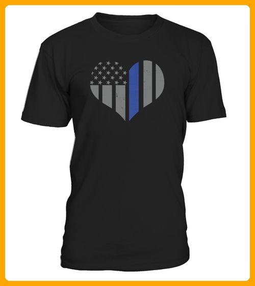 Thin Blue Line Heart Flag Police Tee - 14 juli shirts (*Partner-Link)