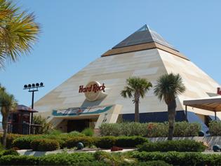 The Hard Rock Cafe Myrtle Beach Pyramid