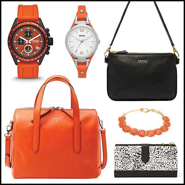 Engagement Rings Okc: Accessorize In Orange And Black! #LeonardJewelryFossil