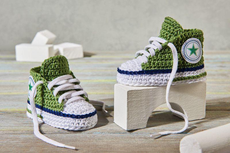 Strick- & Häkelschuhe - Baby Sneaker - Häkelschuhe - ein ...