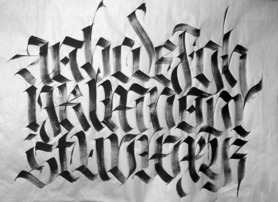 blackletter calligraphy - Google Search