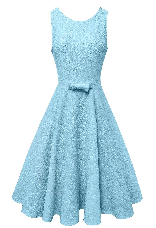 Anni Coco® Women\'s Lace Crochet Vintage Wedding Party Dresses Multi ...