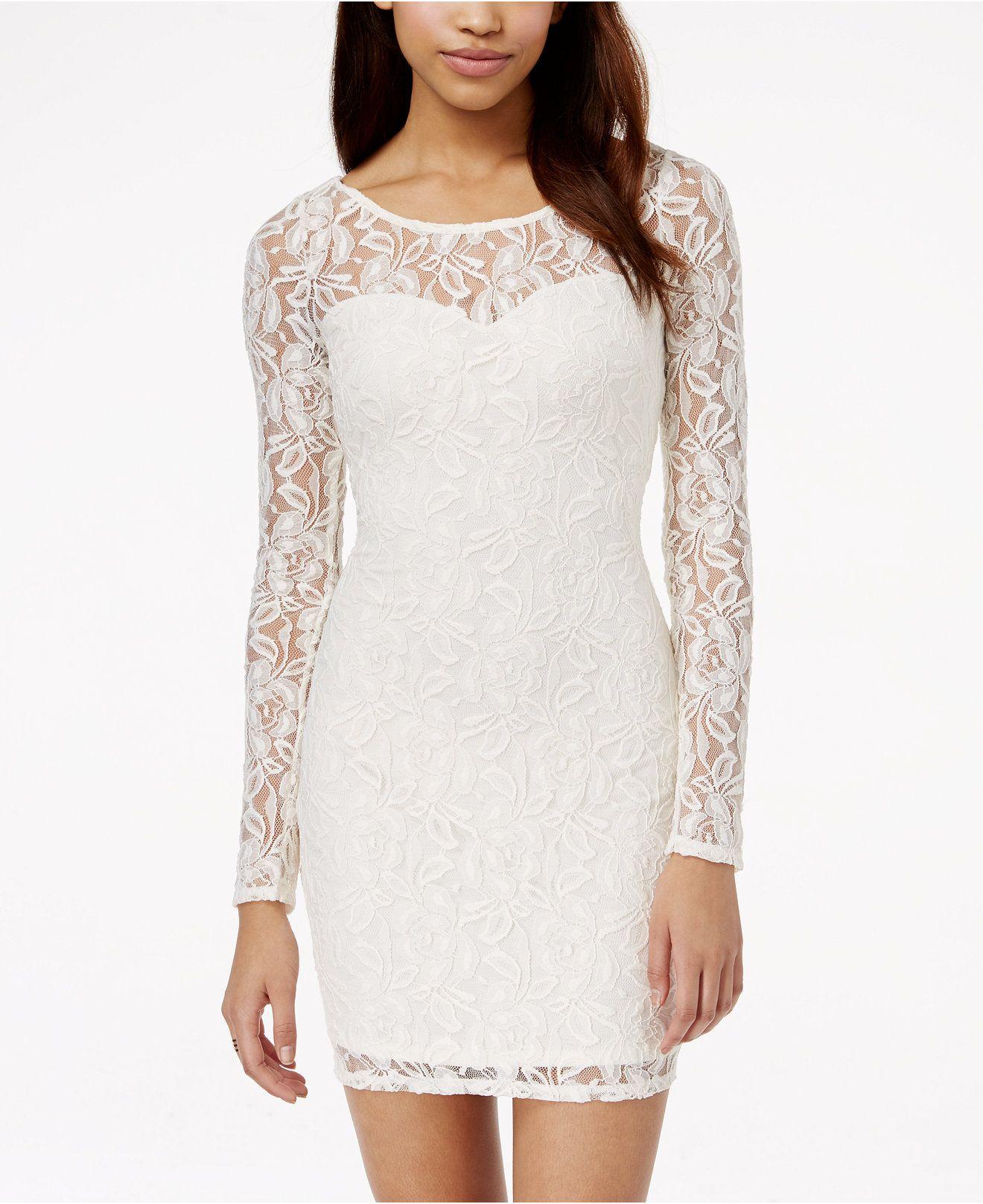 Material Girl Lace Illusion Bodycon Dress, Created for Macy\'s ...