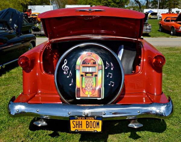 Trunk And Spare Tire Cover On Red 1953 Ford Convertible Ford
