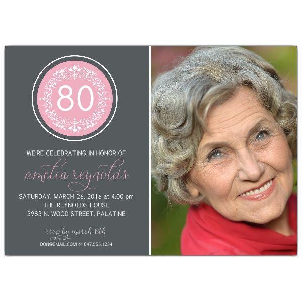 Circular ornament 80th birthday invitations party ideas circular ornament 80th birthday invitations filmwisefo Gallery