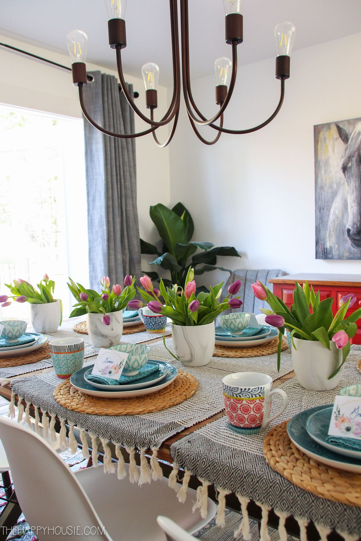simple boho chic spring dining room tablescape boho chic interior decor bohemian bedroom on boho chic dining room kitchen dining tables id=92730
