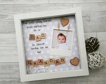 PERSONALISED GRANDMA Mummy DADDY Grandad Photo Frame New Baby Gift Ideas for
