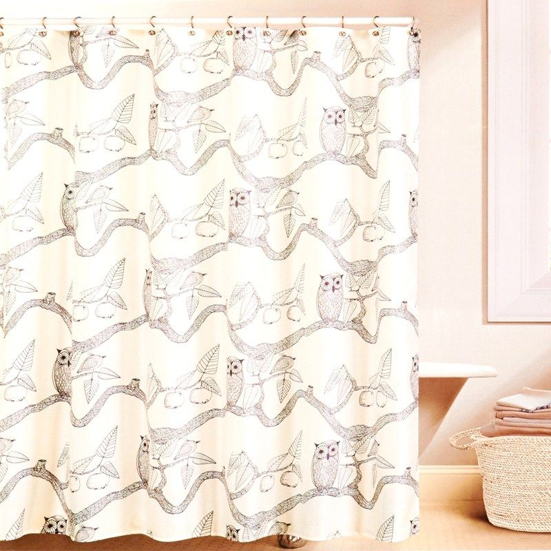 Owl Print Shower Curtain. $13 Burlington coat factory | Printed