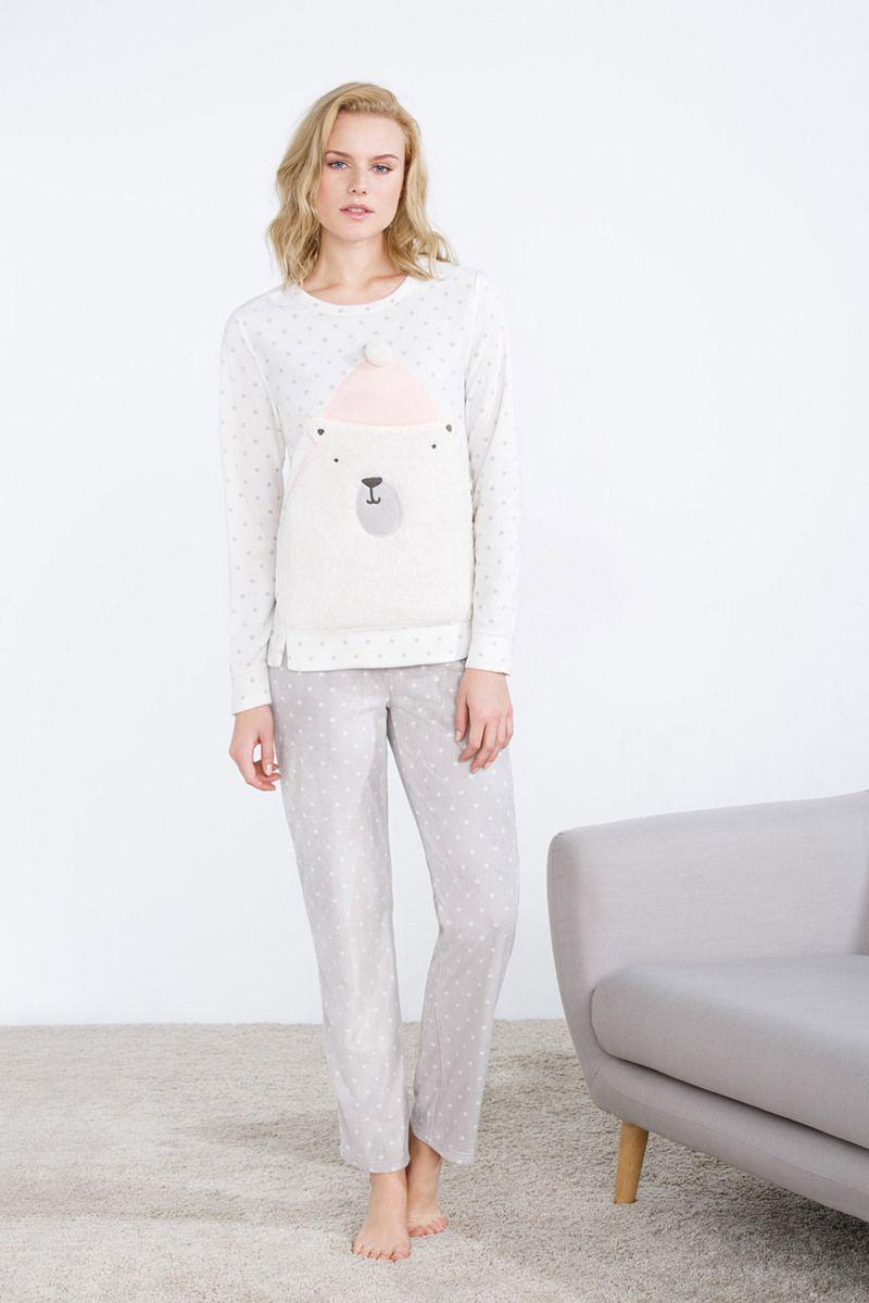 women'secret | Be happy | Pijama largo polar de topos