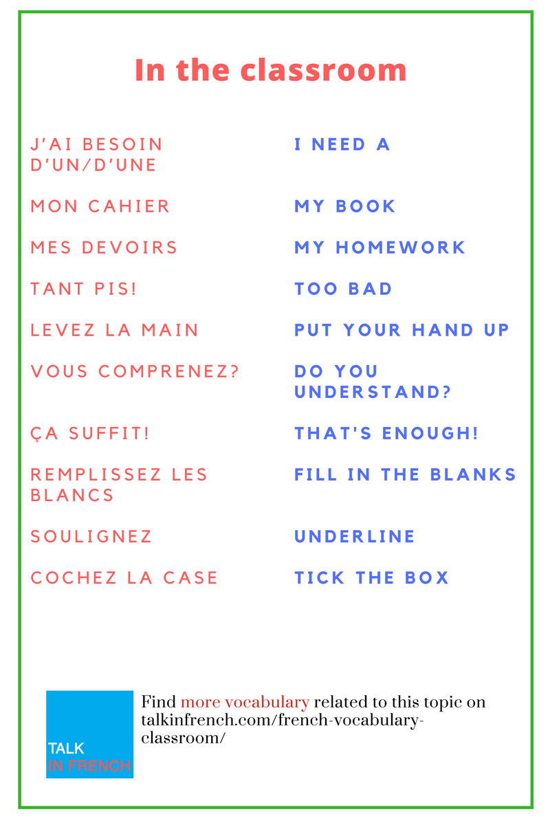 111 Essential French Phrases For The Classroom Basic French Words French Flashcards French Phrases [ 1200 x 800 Pixel ]