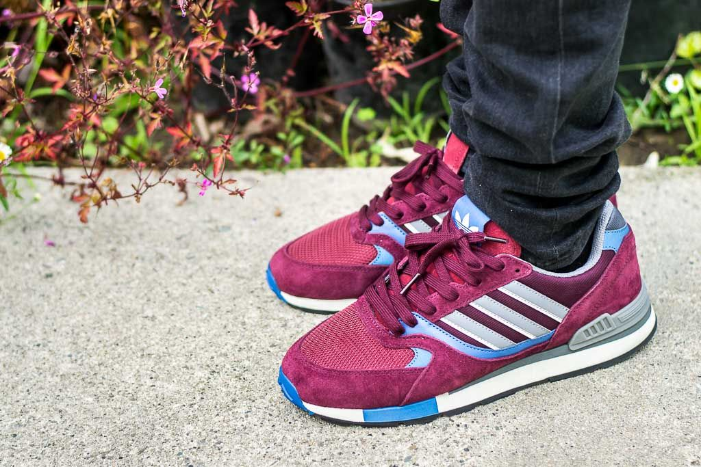 08e9cf44b889c7 Adidas Quesence Maroon On Foot Sneaker Review