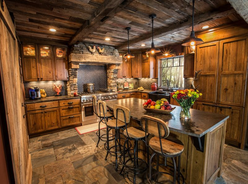 Best 20 H*M*Y Kitchens With Reclaimed Ceiling Rustic Kitchen 400 x 300