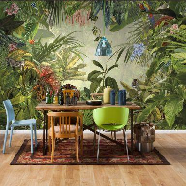 Behang Fotobehang Natuur Bloemen Shop Wall Art Nl Fotobehang Tropische Decoratie Muurschildering Behang