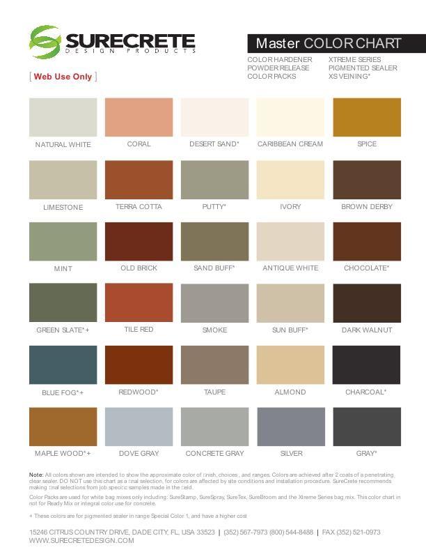 Stamped Concrete Colored Powder Release Agent Pail 33 Lb Concrete Stain Colors Concrete Color Stamped Concrete