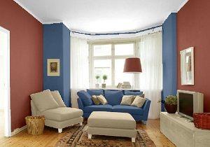 Farbgestaltung Für Ein Wohnzimmer In Den Wandfarben: Toskana ... Farbgestaltung Wohnzimmer Blau