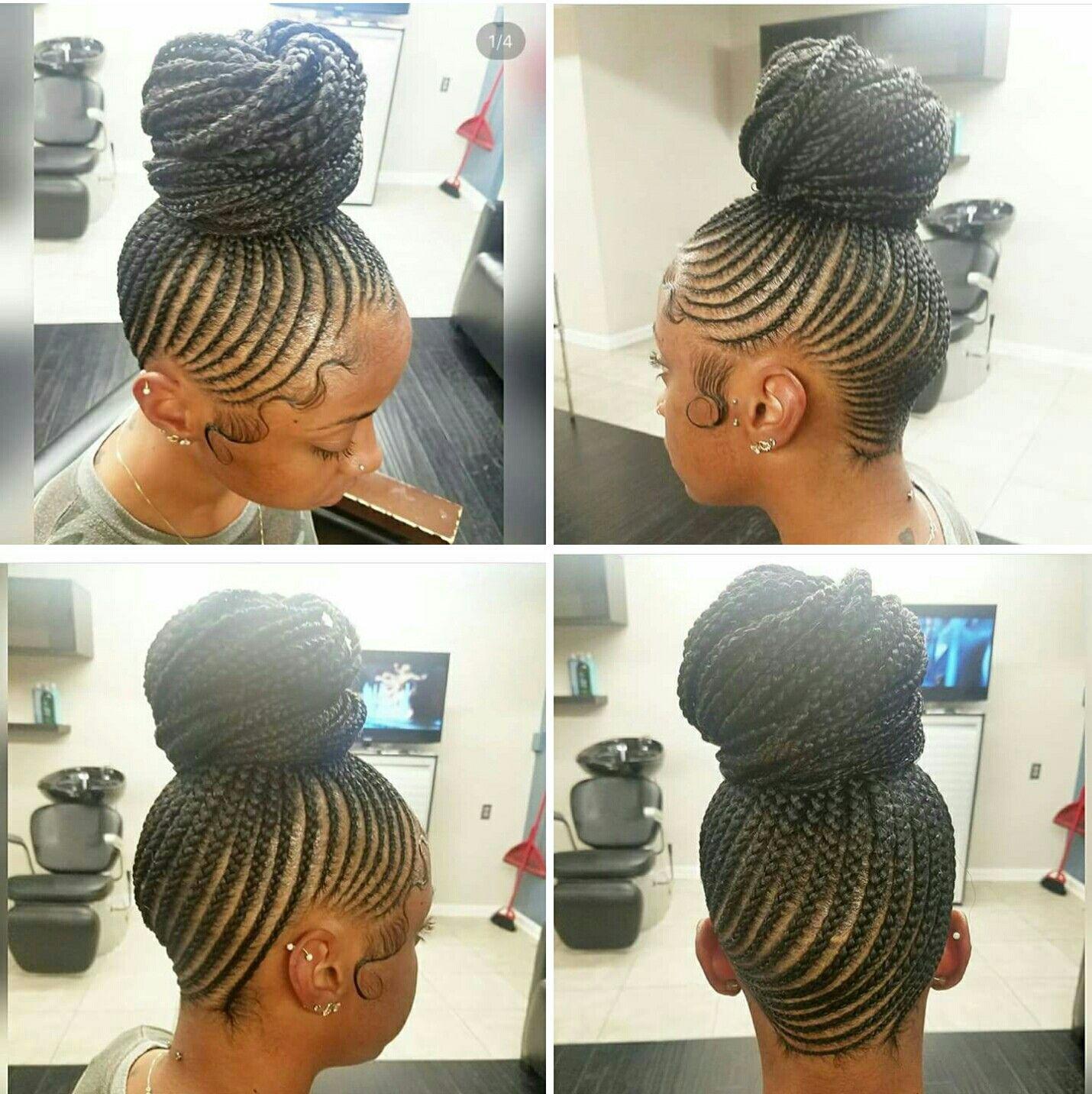 14++ Updo cornrow braids inspirations